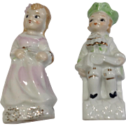 Pair Of Vintage Japan Porcelain Figurines