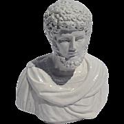 Vintage Italian Ceramic Roman Bust