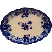 Ford & Sons Floral Flo Blue Oval Scalloped Platter