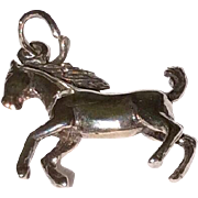Vintage Sterling Silver 3 D Horse Charm