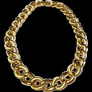 Vintage  Classic Napier Gold Tone Link Necklace
