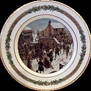 Christmas Classic Dinner Scene Plate Department 56