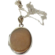 Vintage 1940'S Sterling Silver Locket & Chain