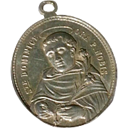 Early Vintage Aluminum Catholic Medal Of Saint Dominic