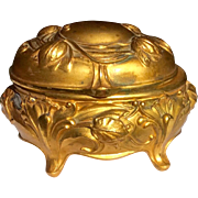 Art Nouveau Gilt Metal Jewelry Casket