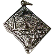 Vintage Sterling Silver Washington D. C. Charm
