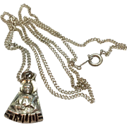 Vintage Chapel  Sterling Silver St. Jude Medal/Pendant And Chain