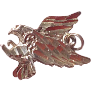 Vintage Sterling Silver Soaring Eagle Charm