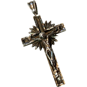 Vintage Sterling Silver Catholic Crucifix