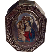 Vintage St. Anne Deaupre Czechoslovakia Rosary Box