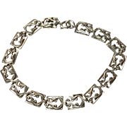 Vintage Danecraft Sterling Silver Flexible Link Bracelet