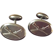 Vintage Sterling Silver Confederate  Civil War Rifle Cufflinks