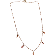 Lovely 1960's Faux Pearl Gold Filled Necklace