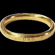 Vintage 12 K Gold  Filled Hinged Van Dell Bangle Bracelet