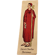 Vintage Saint Charles Borromeo Catholic Prayer Card
