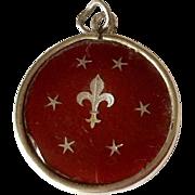 Vintage Sterling Silver Fleur De Lis Emanuel Charm