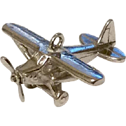 Vintage Sterling Silver Propeller Airplane Charm