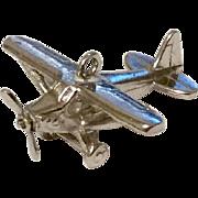 Vintage Sterling Silver Propeller Airplane Charm