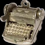 Vintage Sterling Silver Manuel Typewriter Charm