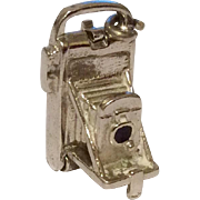 Vintage Old Wells Sterling Silver Camera Charm