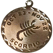 Vintage Sterling Silver Scorpio Zodiac Charm