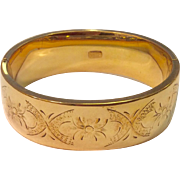 Vintage Wide Gold Filled Hinged Bangle Bracelet