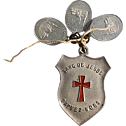 Early Vintage French Aluminum Catholic Medals