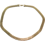 Vintage Gold Filled Mesh Necklace