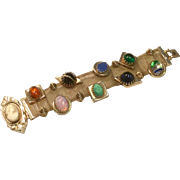 Vintage 1940's Mesh Double Slide Bracelet