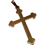 Vintage Estate Gold Filled Cross