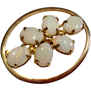 Vintage 12 K  Gold Filled Opal Brooch