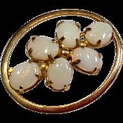 Vintage 12 K  Gold Filled Opal Brooch