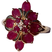 Vintage 1960'S 14 K Gold Ruby Cocktail Ring