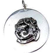1940'S Large Vintage Cini Sterling Silver Capricorn Three Dimensional Charm Pendant