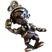 Vintage Walt Disney Sterling Silver Pinocchio Charm