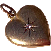 Vintage 14 K Puffy Heart Pendant
