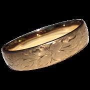 Vintage Carl Art 12 K Gold Filled Satin Finish Hinged Bangle Bracelet