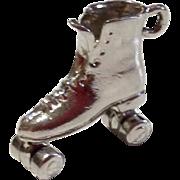 Vintage Sterling Silver Mechanical Roller Skate Charm