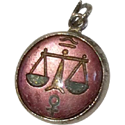 Vintage Sterling Silver Libra Scales Of Justice Charm