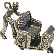Vintage Sterling Silver Chinese Rickshaw Charm