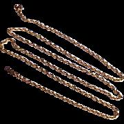 "Vintage 14 K Gold Filled 24"" Rope Chain"