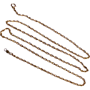 "Vintage 14 K Gold Filled 24"" Rope Chain"