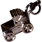 Vintage Sterling Silver Baby Carriage Charm