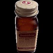 Vintage 1960'S Searle & Co. Brown Dramamine Bottle