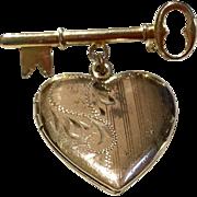 Vintage Key To My Heart Photo Locket