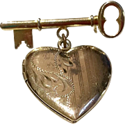 Vintage Key To My Heart Photo Locket