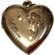 Vintage Gold Filled Heart Photo Locket
