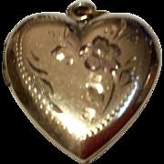 Vintage Gold Filled Heart Photo Locket