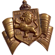 VIntage Gold Tone Metal Accessocraft British War Relief Pin