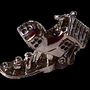 Vintage Sterling Silver Mother Hubbard Mechanical Shoe Charm